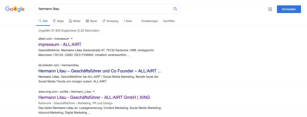 Suchergebnisse Hermann Litau