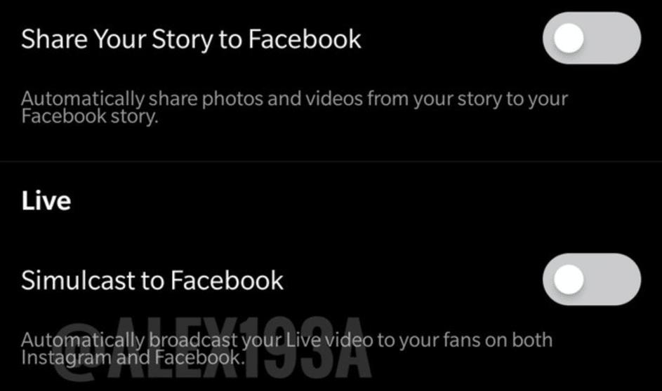 Instagram Live auf Facebook