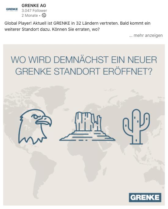 GRENKE LinkedIn Rätsel