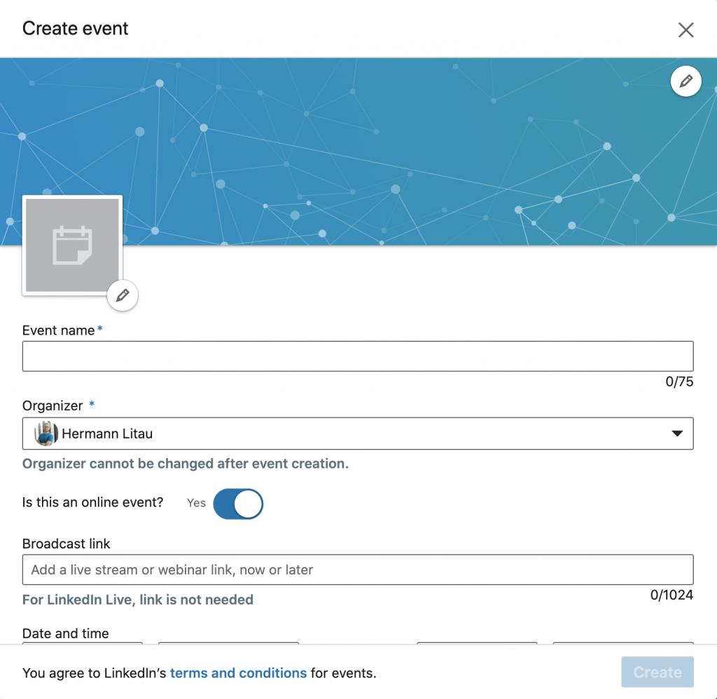 LinkedIn Event anlegen #2