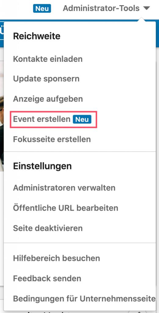 LinkedIn Event erstellen