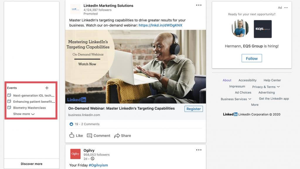 LinkedIn Events anlegen