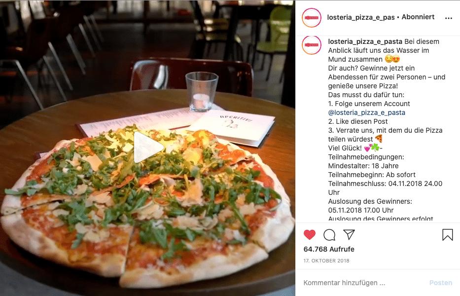 L'Osteria Kampagne Gewinnspiel Instagram