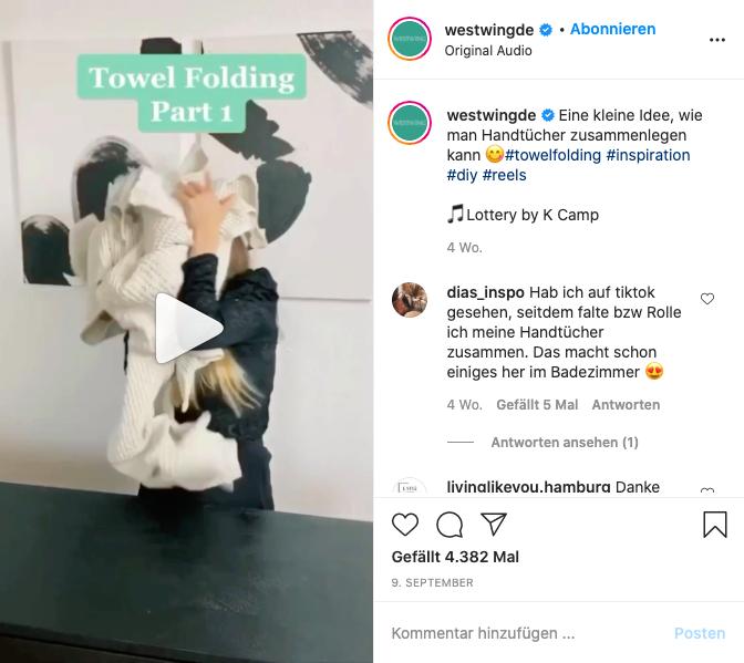 Westwing Reels Instagram Kampagne