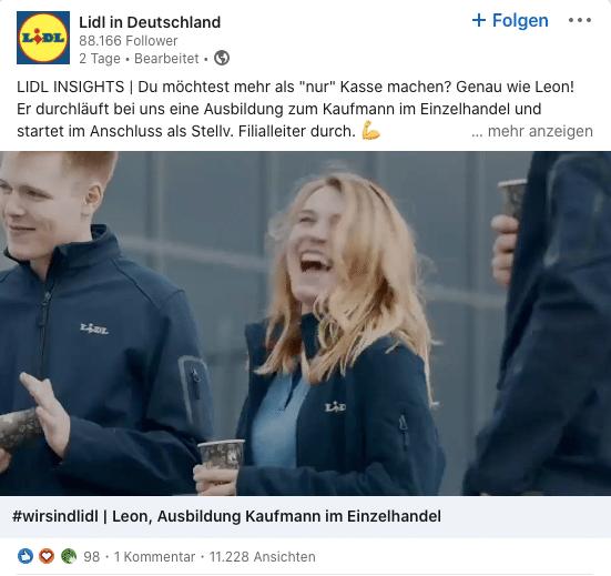 Lidl Ad Bewerber