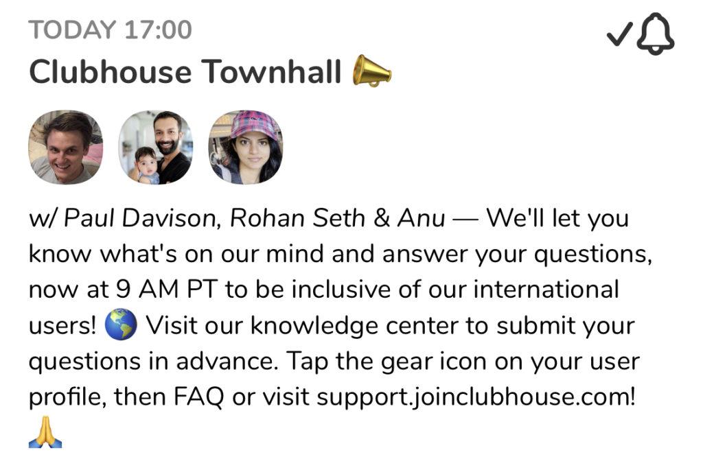 Clubhouse Reichweite Tipps für mehr Follower Format Townhall Audio App