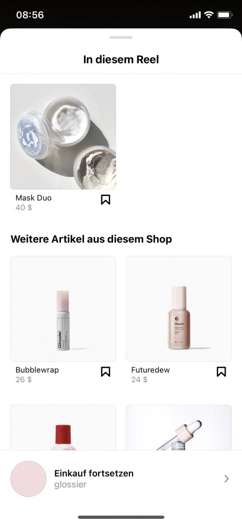 In Instagram-Reels Produkte bewerben